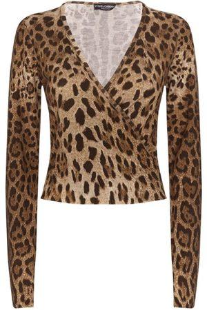 Dolce & Gabbana Leopard Print Wrap Top