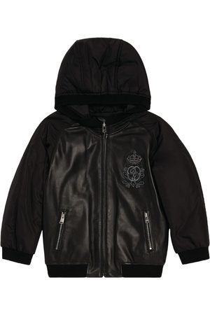 Dolce & Gabbana Kids Leather Panel Bomber Jacket