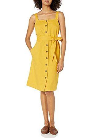Goodthreads Washed Linen Blend Apron Dress