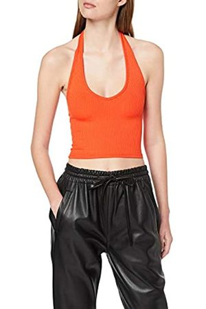 Miss Selfridge Women's Shiny Rib Halter Neck Top Vest