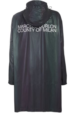 MARCELO BURLON Men Rain Jackets - Reflective Logo Tech Raincoat