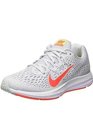 Nike Women's Zoom Winflo 5 Running Shoes, (Pure Platinum/Bright Crimson/W 005)