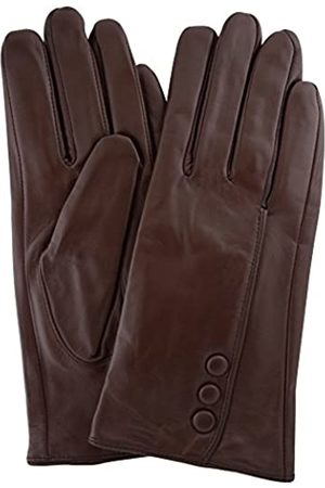 """Snugrugs Womens Butter Soft Premium Leather Glove with Classic Triple Button Stitch Detail & Warm Fleece Lining - - Small (6.5"""")"""
