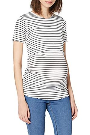 Dorothy Perkins Women's Cream Stripe Nursing Rib Tee T-Shirt