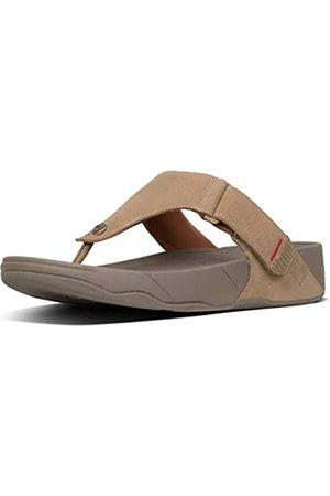 FitFlop Men's Trakk Ii Leather Open Toe Sandals, (Feather 713)