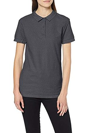 Gildan Women's Premium Cotton Double Pique Polo Shirt, (Dark Heather)