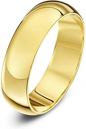 THEIA Unisex 18 ct , Super Heavy D Shape, Polished, 5 mm Wedding Ring