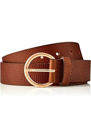 HIKARO Amazon Brand - Women's Leather Belt, Multicolour (Gingham Black / Gingham Red), M