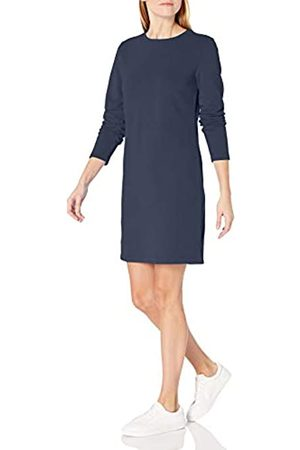 Amazon Crewneck Long-Sleeve French Terry Fleece Above-The-Knee Dress Sweatshirt