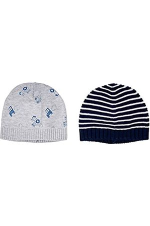 Mothercare Stripy And Tractor Knitted Hats - 2 Pack, Multi