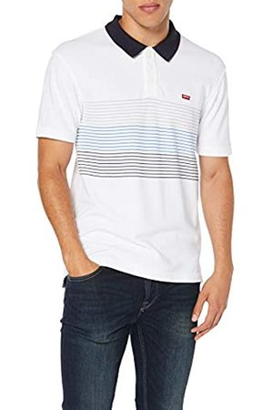 Levi's Men's Housemark Polo Shirt, (Storage Stripe /Gray Violet/Bayside Terrace/Nightwatch 0108)