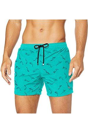 HUGO BOSS Men's White Shark Swim Trunks