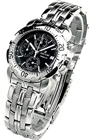 Oskar Emil Oskar-Emil Classic Chrongraph Caesium 1119G SS Men's Quartz Watch with Dial Analogue Display and Stainless Steel Bracelet