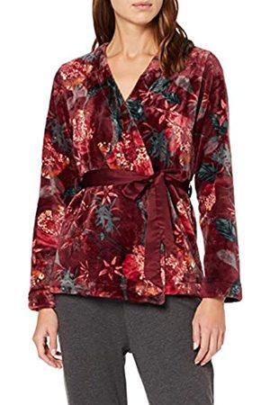 Triumph Women's Robe Short Print Bathrobe, Rot (Woodrose 00ew)