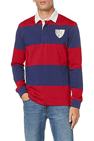 Hackett Men's Quilt Str Rby Polo Shirt