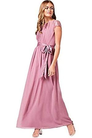 Little Mistress Phoebe Canyon Rose Lace Sleeve Maxi Dress 12 UK Canyon Rose