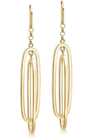 Carissima Gold 9ct Gold Double Oval Drop Earrings