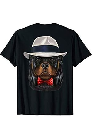 Fox Republic T-Shirts Rottweiler Dog wearing Fedora Hat T-Shirt