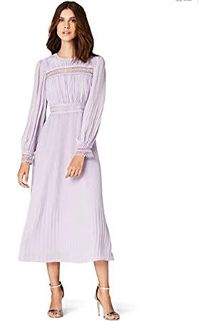 TRUTH & FABLE Women's Dress Pleated Midi Chiffon