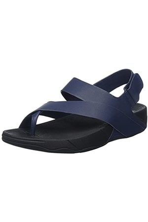 FitFlop Men's Surfer Leather Sandal Open-Toe, (Midnight Navy)