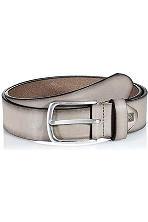 Lindenmann The Art of Belt Mens leather belt/Mens belt, full grain leather belt with effect, unisex, taupe, Größe/Size:85