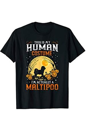 Funny Halloween Costume Dog Lovers Gifts My HUMAN COSTUME I'm Actually A Maltipoo Gift T-Shirt