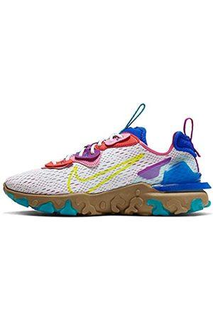Nike Women's W NSW React Vision Running Shoe, Photon dust/Lemon Venom-Hyper