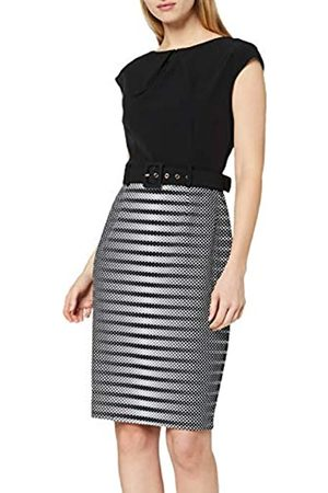 Paper Dolls Women's Monochrome Belted Pencil Dress