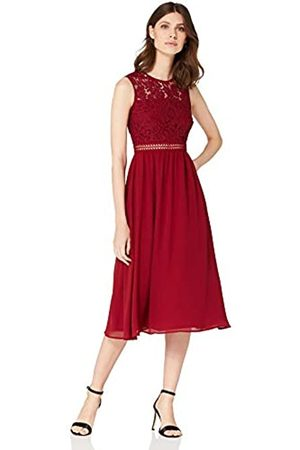 TRUTH & FABLE Amazon Brand - Women's Maxi Chiffon Dress, 8