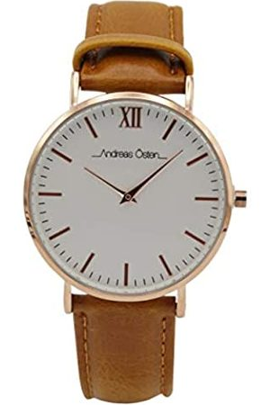 Andreas Osten Unisex Adult Analogue Quartz Watch with Leather Strap AO-04