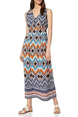 Mela Women's Zip Detail Aztec Maxi Dress Casual
