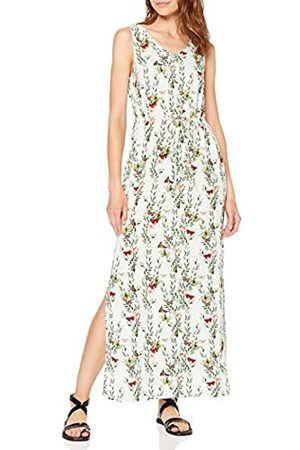 Vero Moda Women's Vmsimply Easy Sl Tank Maxi Dress, (Snow AOP: Betty-Snow )