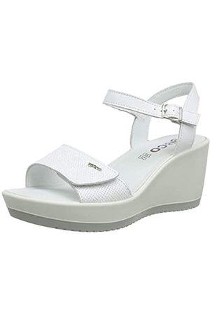 IGI&CO Women's DSC 31741 Platform Sandals, (Bianco 3174111)