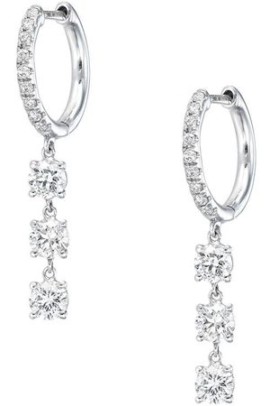 Anita 18kt white gold diamond drop earrings