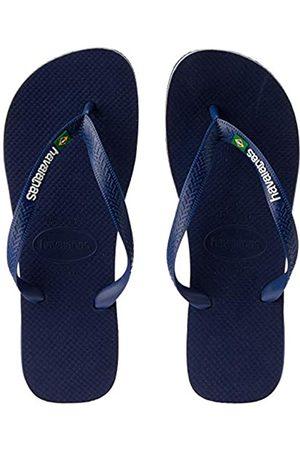 Havaianas Brasil Logo, Unisex Adults' Flip Flop Flip Flops, (Navy )
