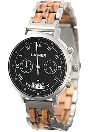 Laimer Chronograph wood watch LEON – mens wristwatch made of Zebrano wood and stainless steel case - comfort & lifestyle