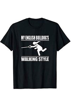 ToonTyphoon Humorous English Bulldog ( Women ) Walking Style T-Shirt