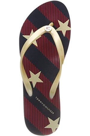 Tommy Hilfiger Women's Stars and Stripes Beach Sandal Flip Flops, (Midnight 403)