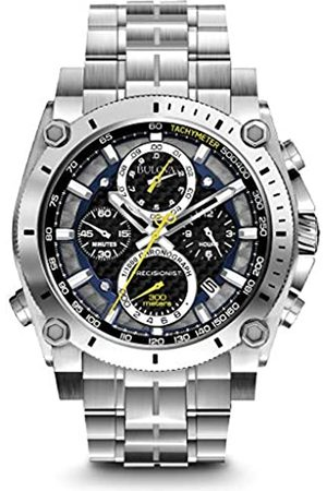 BULOVA Precisionist Chronograph Men's UHF Watch with Black Dial Analogue Display and Stainless Steel Bracelet 96B175