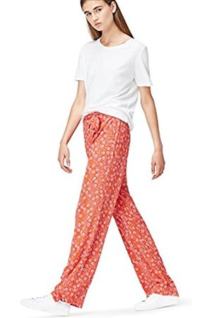 FIND Women's Trousers Wide Leg Mid Rise, Multicoloured ( Mix)
