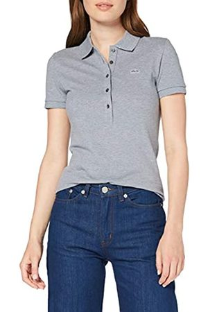 Lacoste Women's PF7845 Short Sleeve Polo Shirt, (Brochet Chiné 7zg)