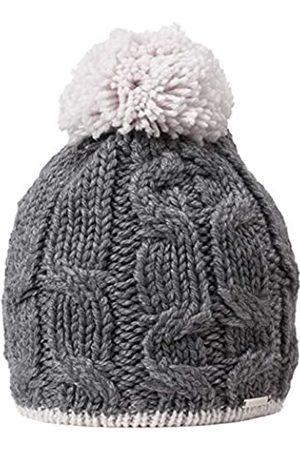 Giesswein Woolen Beanie Zinnenberg ONE - Merino Wool Cap, Warm Fleece Lining, Ladies Cap with Bobble, Knit Braid Pattern, Merino Wool