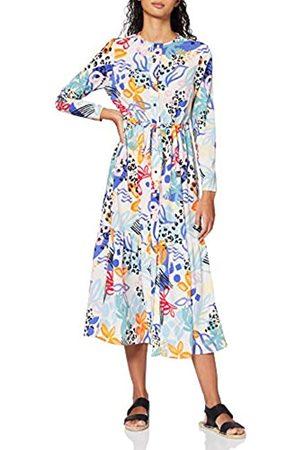 FIND Amazon Brand - Women's Midi Floral Shirt Dress, 12