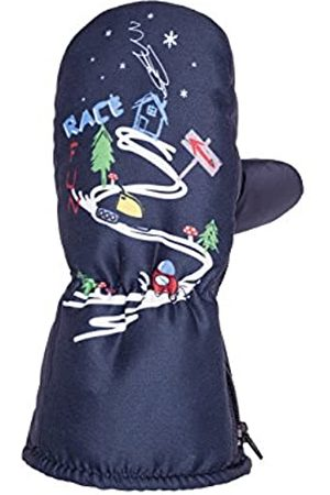 maximo Boys' 68303-785800, Thermofausthandschuh, Druck Race Fun, Zipper Mittens