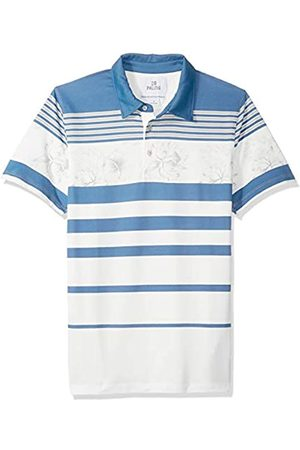 28 Palms Standard-Fit Hawaiian Performance Pique Polo Shirt / Floral Stripe