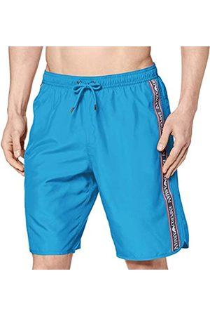 Portfolio Men's Bermuda Beachwear Bold Logo Tape Swim Trunks