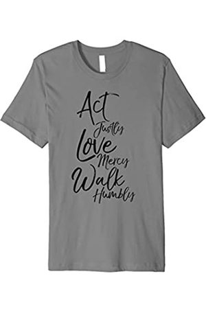 P37 Design Studio Jesus Shirts Act Justly Love Mercy Walk Humbly Micah 6:8 Christian Shirt