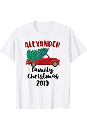 CC Christmas Family Matching Outfit Set Red Christmas Truck Tree 2019 Alexander Family Matching T-Shirt