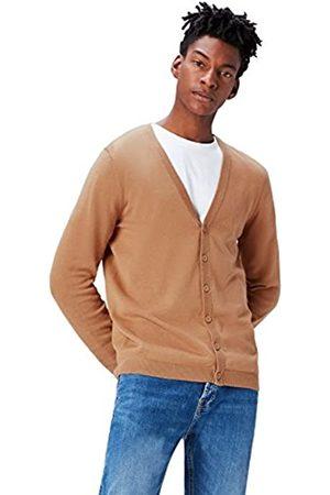 FIND Amazon Brand - Men's Cotton Button Down Cardigan, S