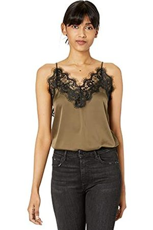 The Drop Women's Natalie V-Neck Lace Trimmed Camisole Tank Top